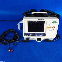 LifePak 20 with hard paddles and ECG cable