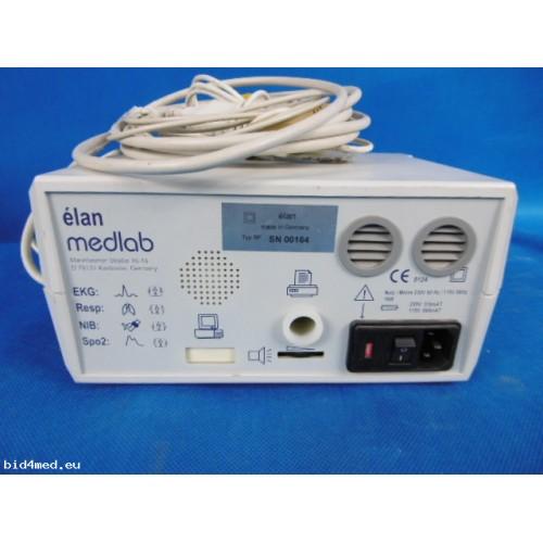 MEDLAB Elan Monitor with ECG,Resp  NIB, Spo2 with cables